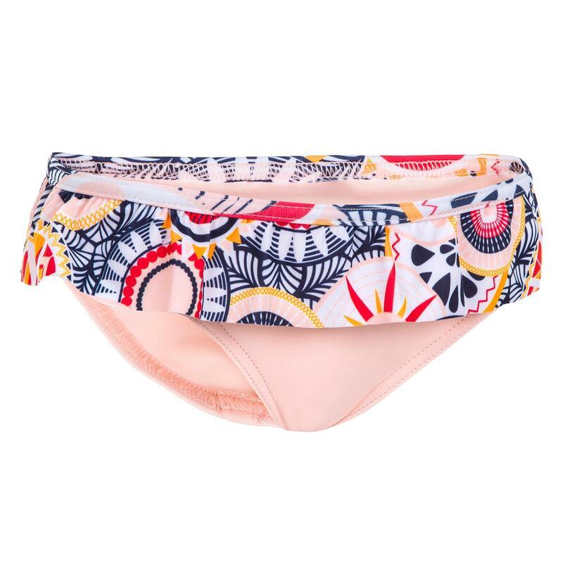 Baby One-Piece Swim Briefs Swimsuit Bottoms - Light Coral Print