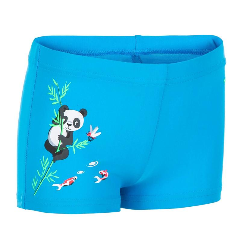 Baby / Kids' Swim Shorts - Blue Panda Print
