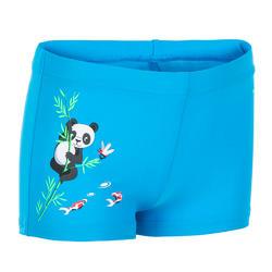 Zwemboxer voor peuters blauw met pandaprint