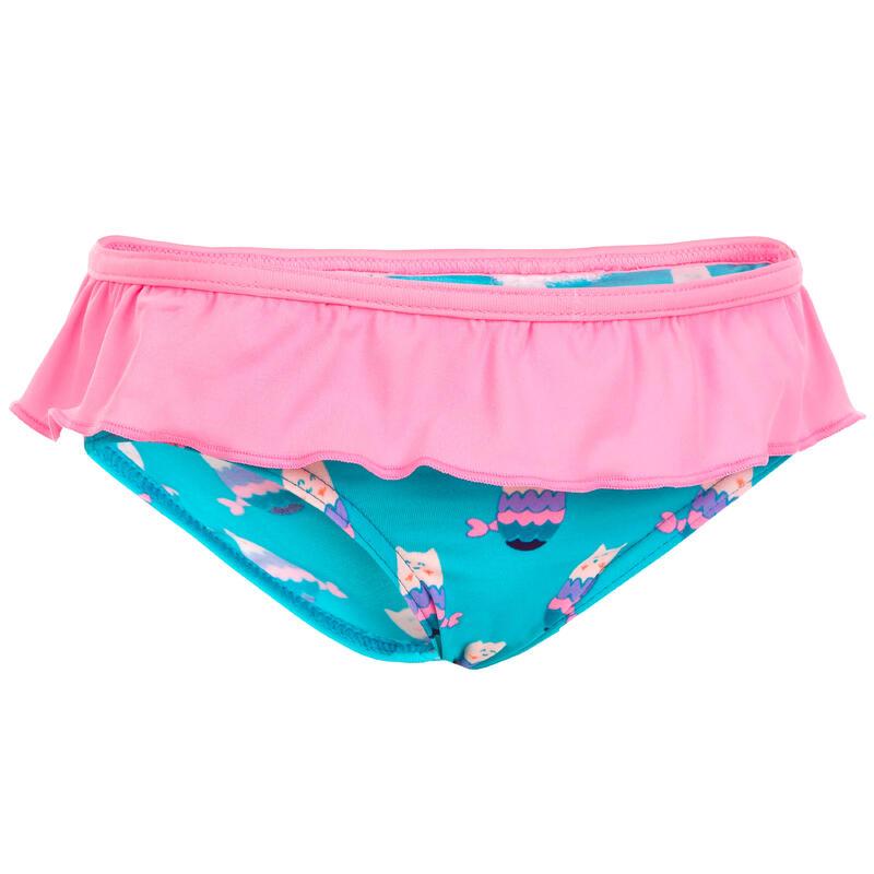 Baby One-Piece Swim Briefs Swimsuit Bottoms - Blue Mermaid Cats Print