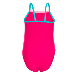 Baby Girls' One-Piece Swimsuit - Pink with Panda Print