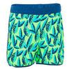 Zwemshort peuter groen met print