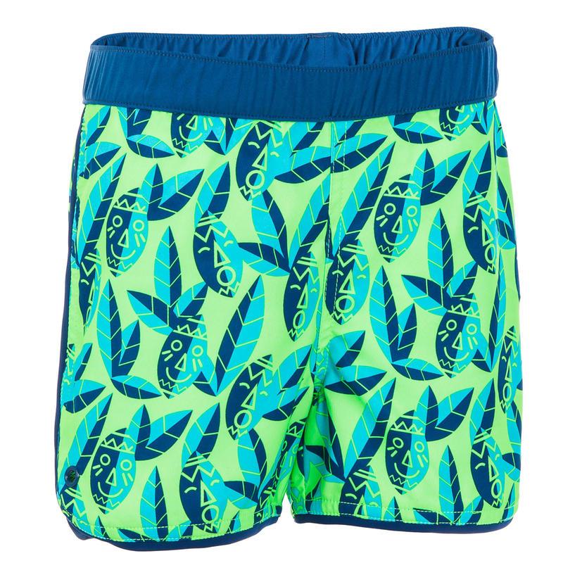 Zwembroek voor peuters / kleuters groen met print