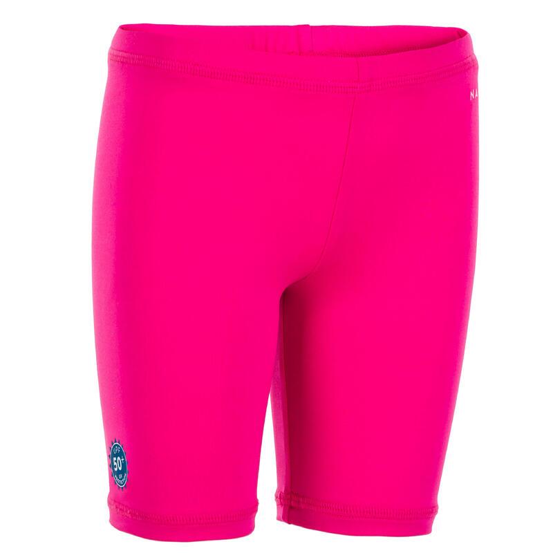 Bas de maillot court anti UV bébé / enfant rose