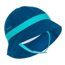 Chapéu anti UV para bebé nadador azul
