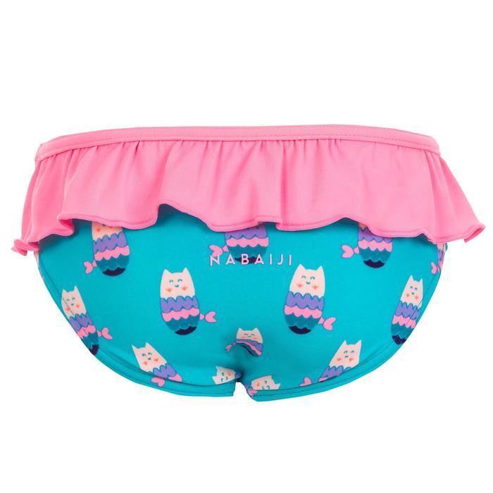 Maillot de bain une pièce culotte bébé bleu imprimé chats sirène