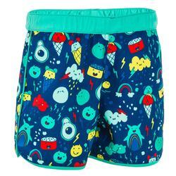 Zwemshort peuter blauw/groen met print