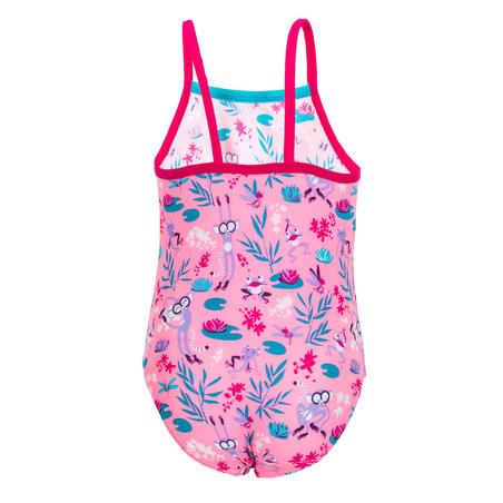 Baju Renang One-Piece Batita - Pink dengan motif