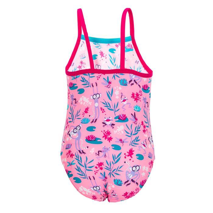 Maillot de bain bébé fille une pièce rose avec imprimé