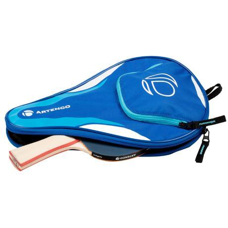 housse de raquette de tennis de table artengo fr710 bleu artengo