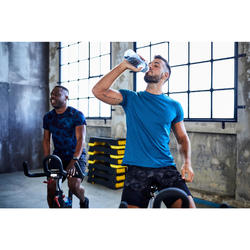 T-shirt cardio fitness training FTS520 homme bleu F18A