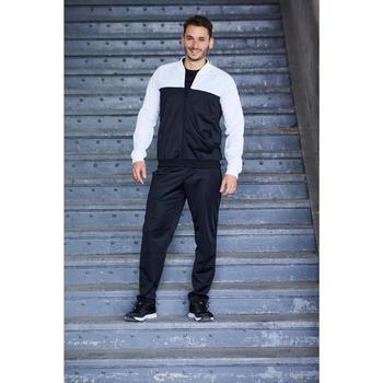 男款健身訓練運動服 - 黑色/白色