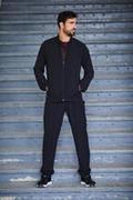 Men's Fitness Tracksuit Set - Black