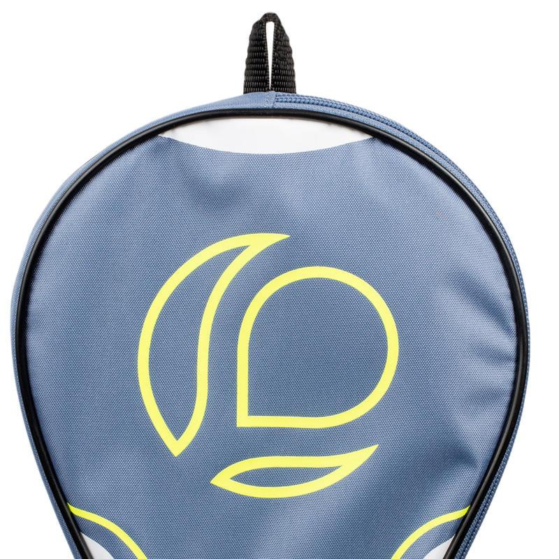 Funda de paleta de ping-pong TTC 100 gris y amarillo