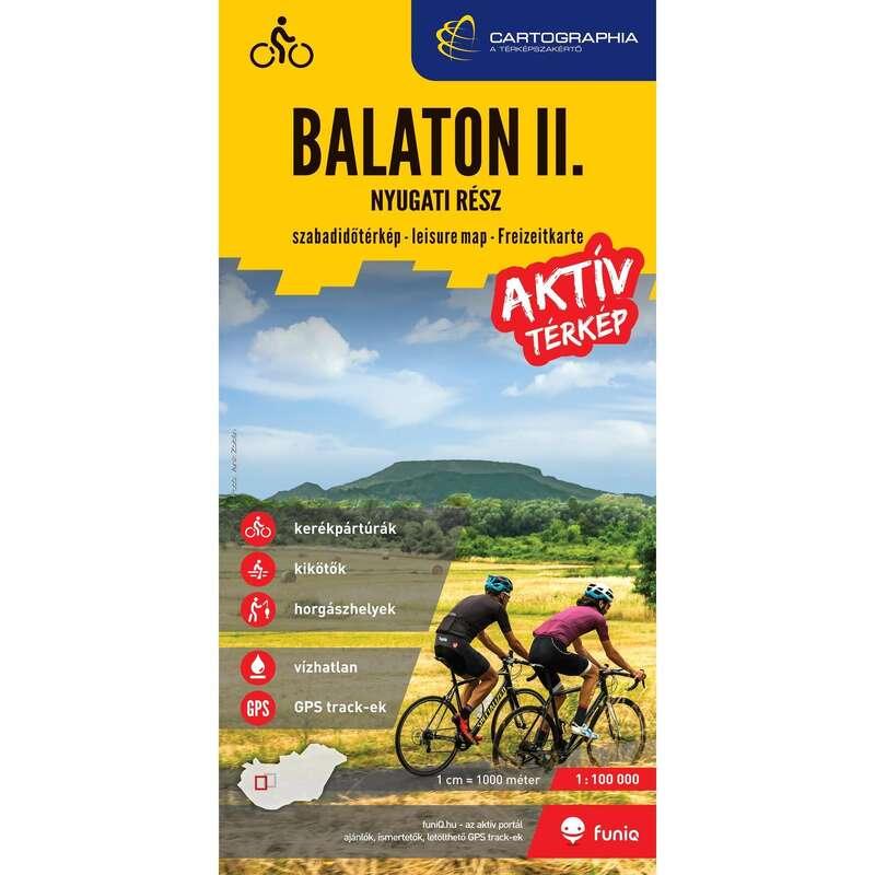 Térképek Túrázás - Balaton II. Nyugati térképe CARTOGRAPHIA - Túra felszerelés