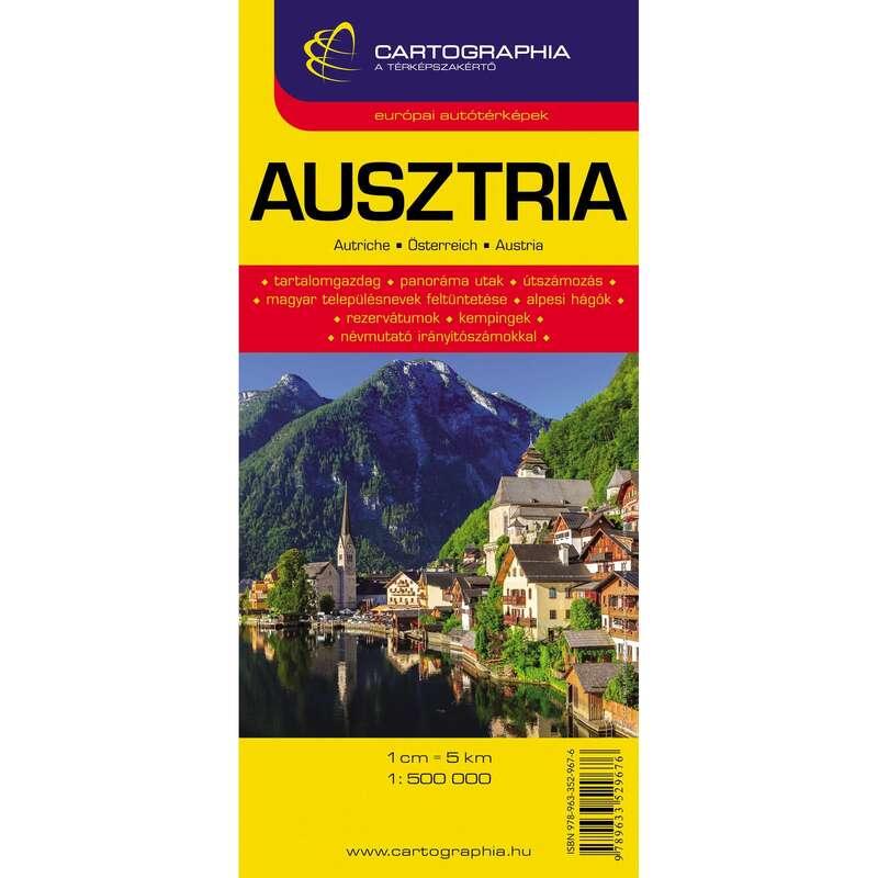 térképek Túrázás - Ausztria autótérkép 1:500 000 CARTOGRAPHIA - Túra felszerelés