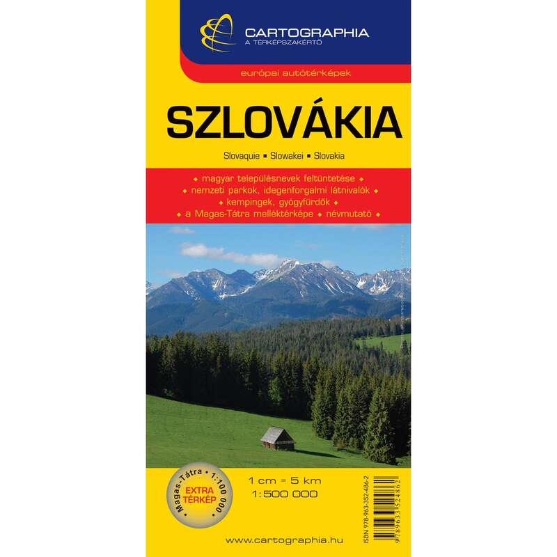 Térképek Túrázás - Szlovákia autótérkép 1:500 000 CARTOGRAPHIA - Túra felszerelés