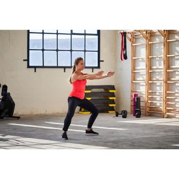 Women's Fitness Cardio Training Bottoms 100 - Black