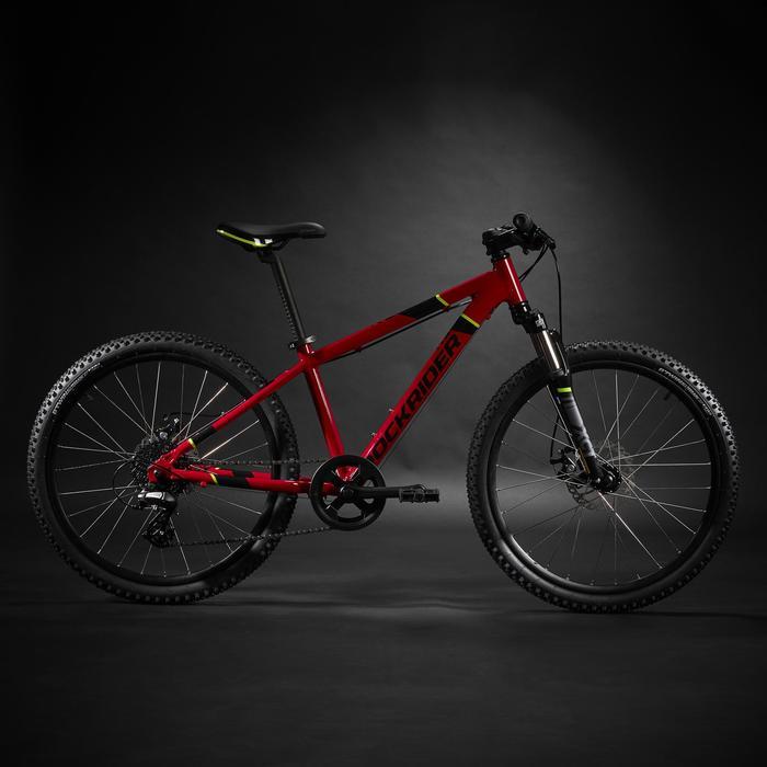 Mountainbike Kinderfahrrad 24 Zoll Rockrider ST 900 rot