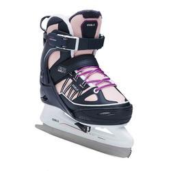 冰刀溜冰鞋FIT500 - 藍色/粉色