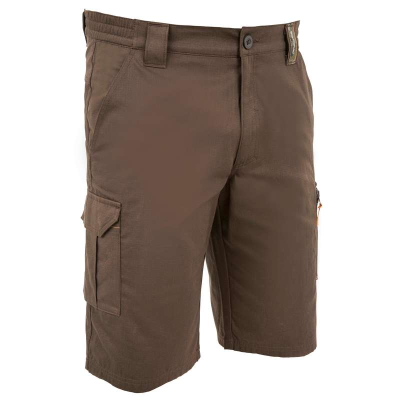 LIGHTWEIGHT CLOTHING Shooting and Hunting - BERMUDA SHORTS 500 BROWN SOLOGNAC - Hunting and Shooting Clothing