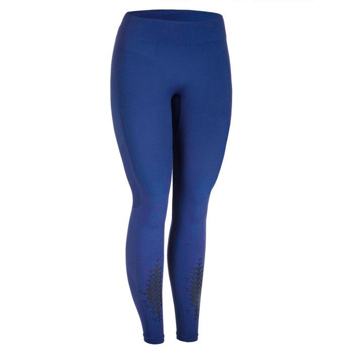 Fitness legging crosstraining voor dames 900, donkerblauw