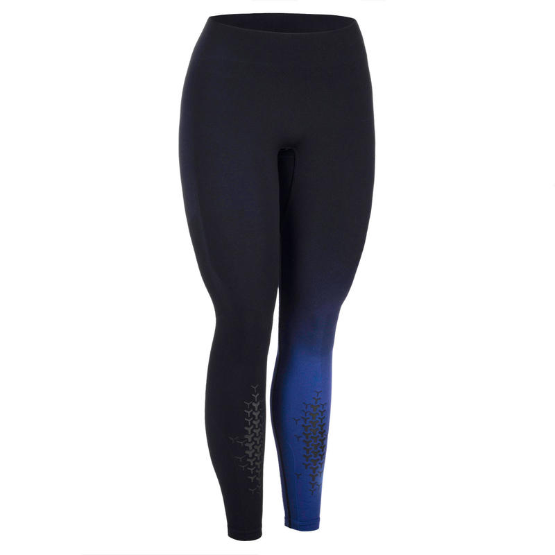 Legging voor crosstraining dames zwart/donkerblauw