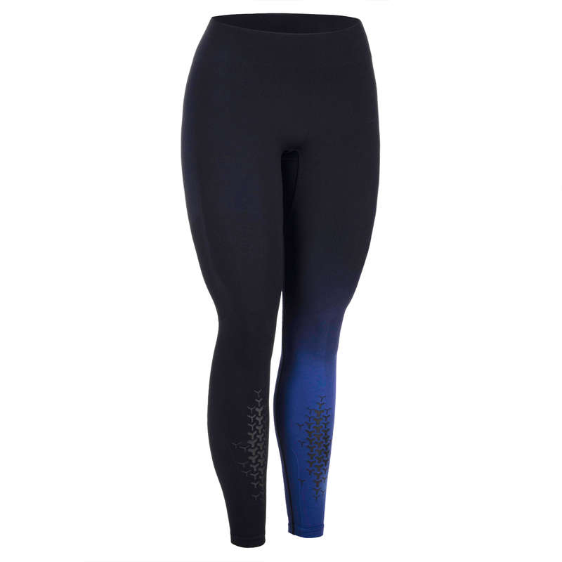 CROSS-TRAINING APPAREL Fitness and Gym - Women's Cross Legging - Black DOMYOS - Gym Activewear