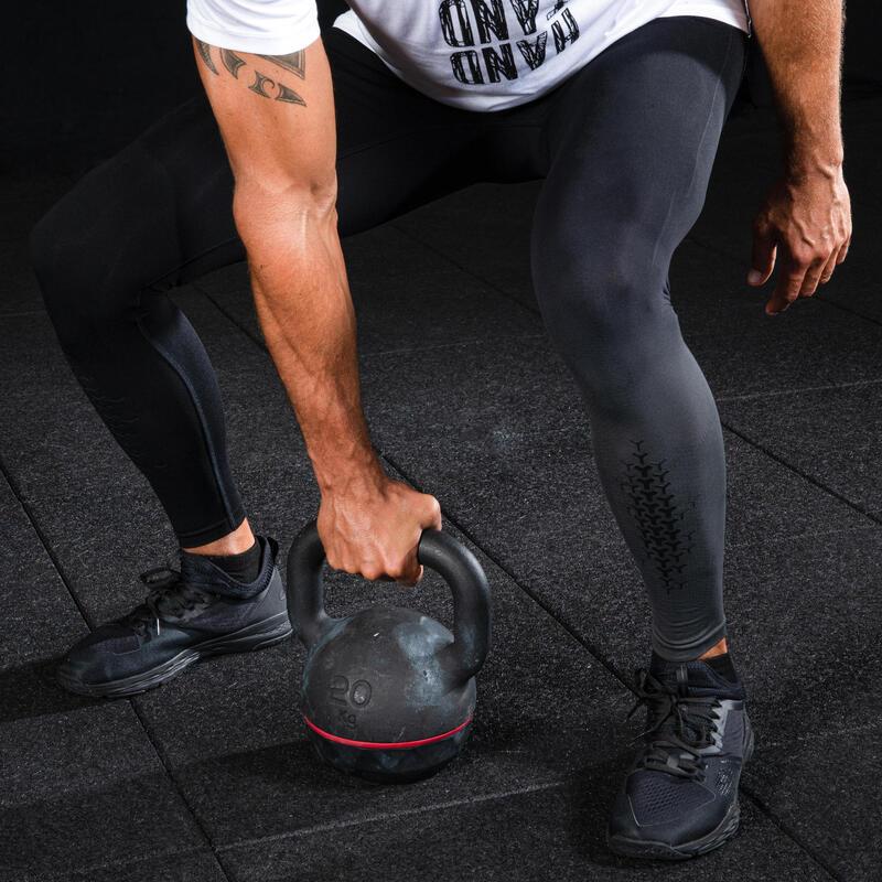 Men's Cross Training Leggings - Black/Dark Grey