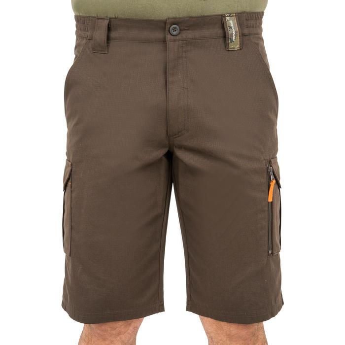Bermudas de caza 500 marrón