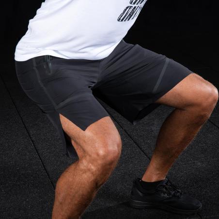 Short deportivo hombre Short CrossTraining Domyos 500 negro