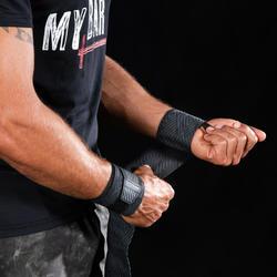 Handgelenk-Stützbandagen Crosstraining schwarz