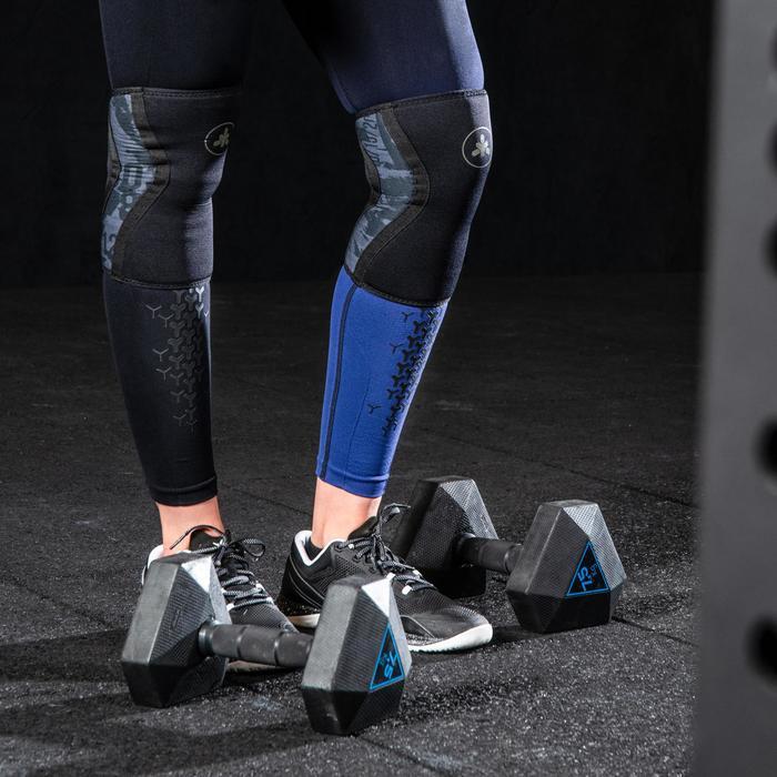Fitness legging crosstraining voor dames 900, zwart/donkerblauw
