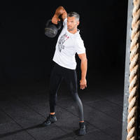Men's Cross Training Leggings - Black/Dark Grey