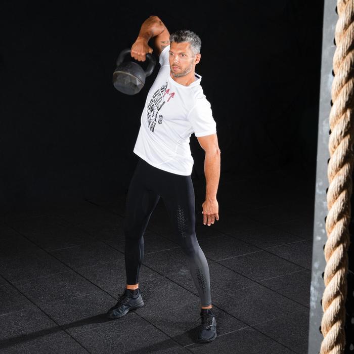 男款交叉訓練緊身褲-黑色/深灰色