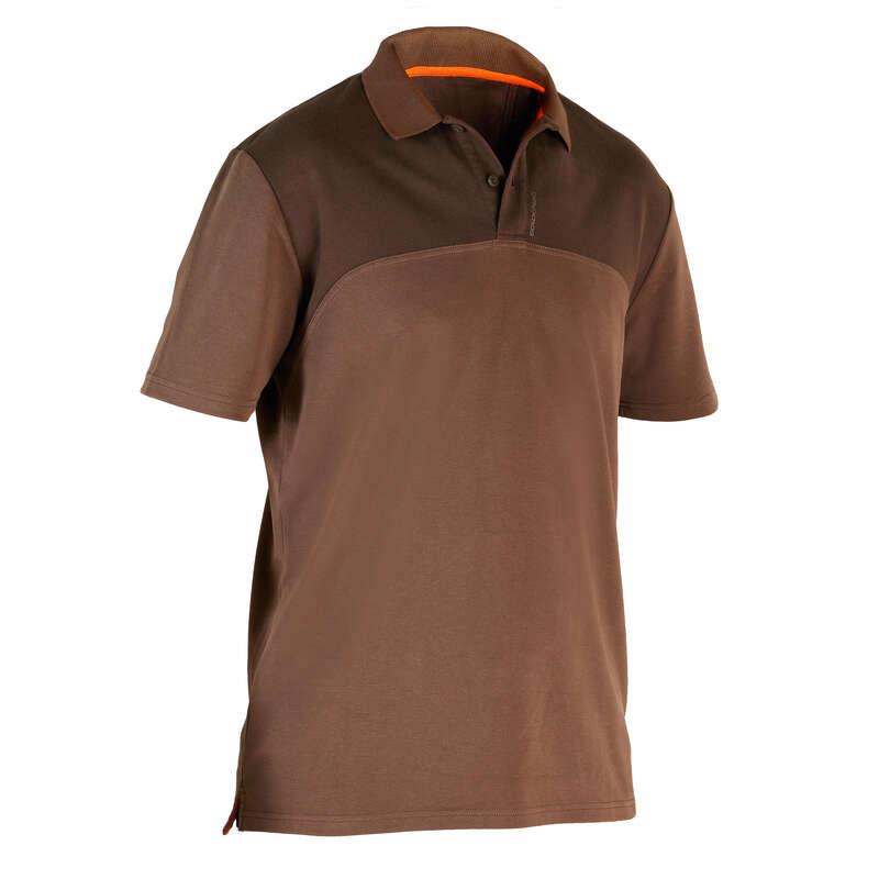 T-SHIRTS/POLOS - Hunting SS Polo Shirt 500 Brwn SOLOGNAC