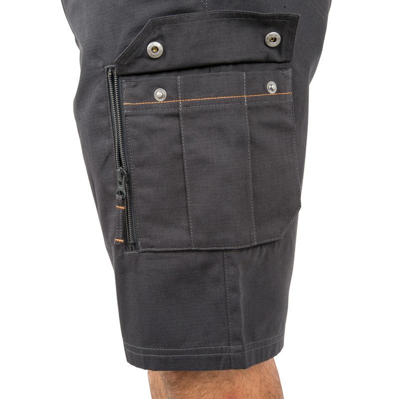 กางเกงขาสั้นเหนือเข่าสำหรับส่องสัตว์รุ่น 500 (สีเทา)