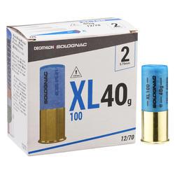 CARTOUCHE XL100 40g CALIBRE 12/70 PLOMB N°2 X25