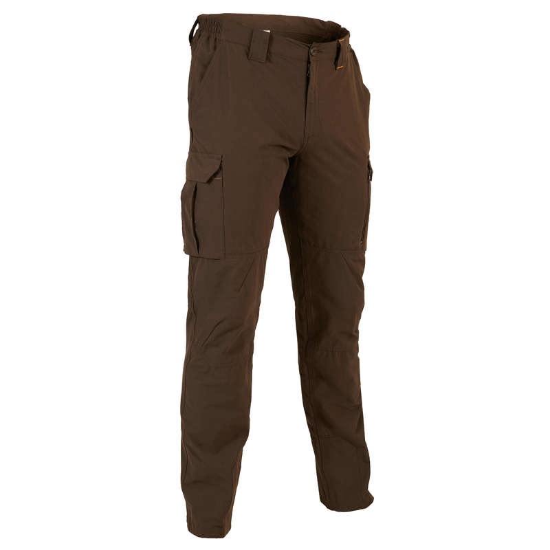 LIGHTWEIGHT CLOTHING Shooting and Hunting - SG500 TROUSERS DARK BROWN SOLOGNAC - Hunting and Shooting Clothing
