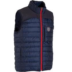 Bodywarmer ruitersport heren GL500 marineblauw
