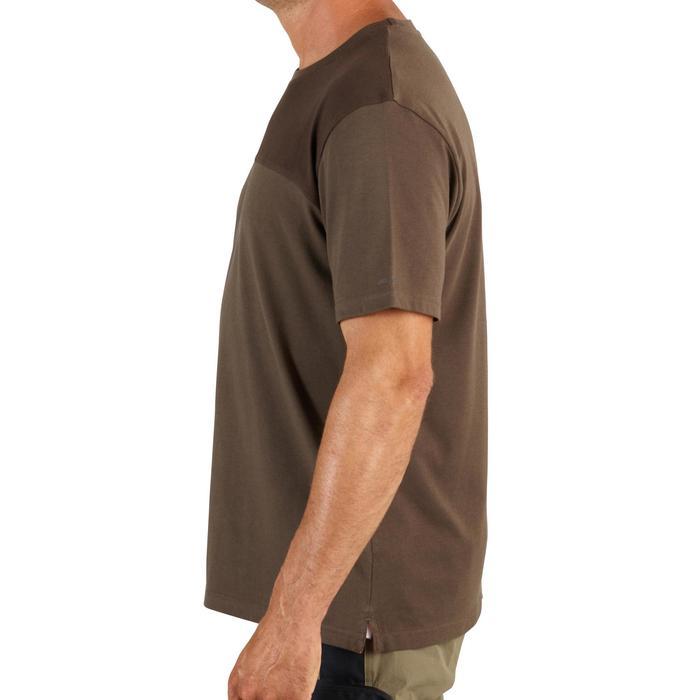 Jagersshirt met korte mouwen 500 bruin