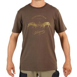 T-shirt manches courtes chasse 100 2 Cerfs