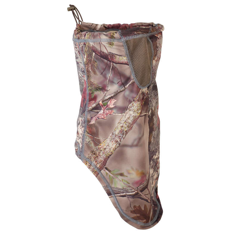 CAMO CLOTHING DRY/WET WEATHER Shooting and Hunting - Neck Gaiter 500 Woodland Camo SOLOGNAC - Hunting and Shooting Clothing