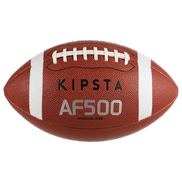 Ballon de football américain AF500 en taille officielle marron