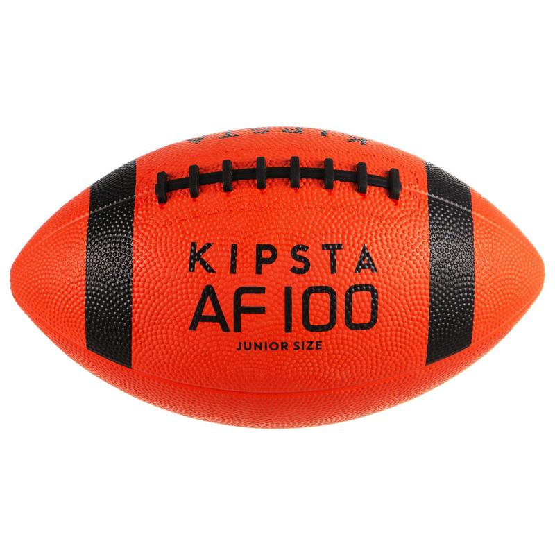 Balón Fútbol Americano Kipsta AF100 Niño Naranja y Negro