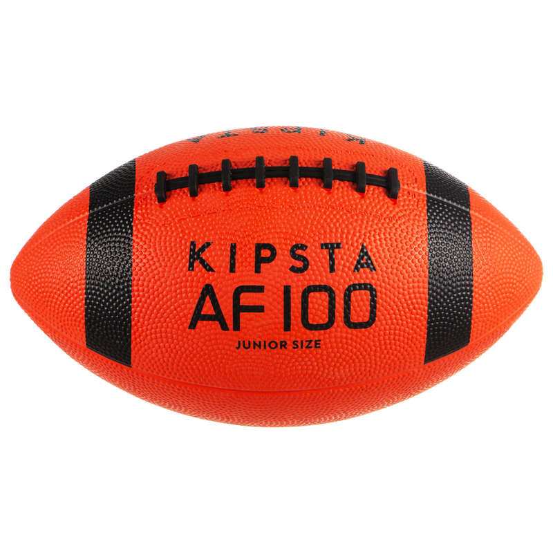 AMERICAN FOOTBALL American Football - Kids' AF100B - Orange/Black KIPSTA - Sports