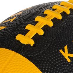 Ballon de football américain enfant noir/jaune