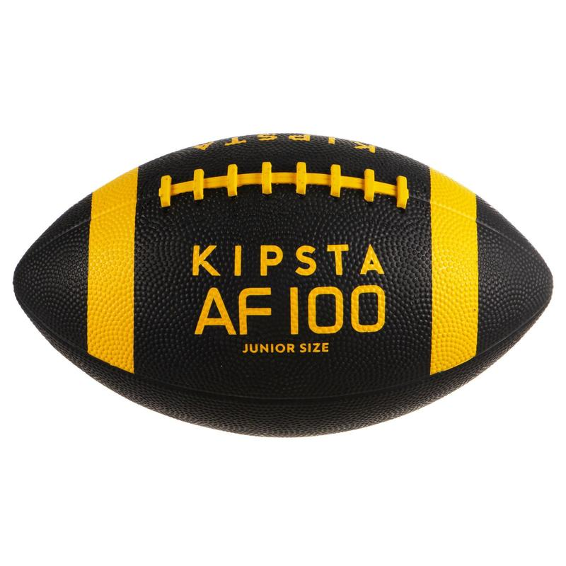Balón Fútbol Americano Kipsta AF100 Niño Negro y Amarillo