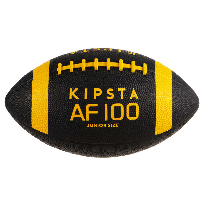 AMERICAN FOOTBALL American Football - Kids' AF100B - Black/Yellow KIPSTA - Sports