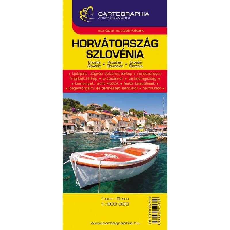 térképek Túrázás - Horvátország, Szlovénia térkép CARTOGRAPHIA - Túra felszerelés